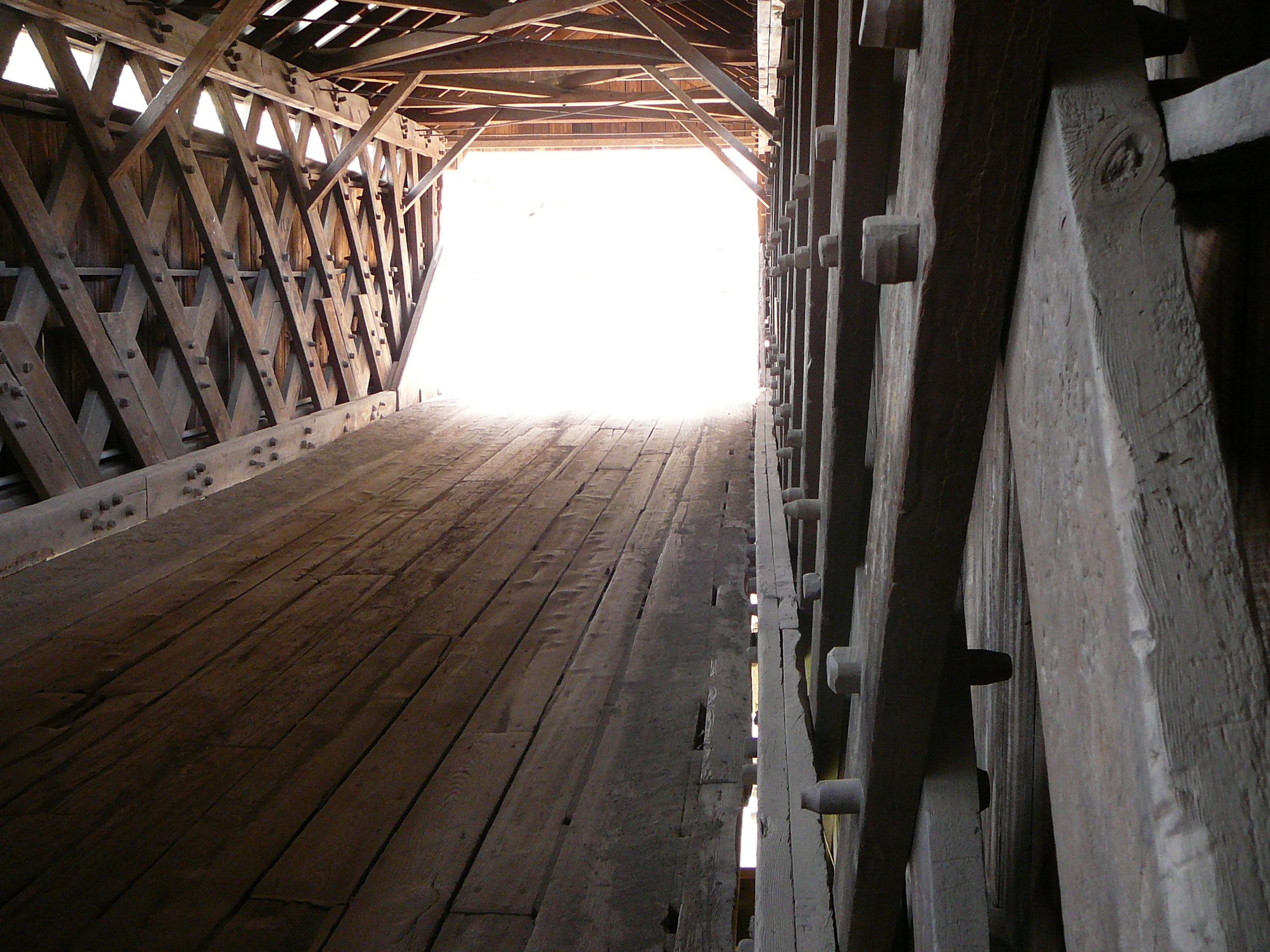 There is Light at the End of the…Covered Bridge