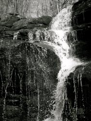 Joy Rushes Upon a Slick Ledge BW ©2014 Becca for MGP&D