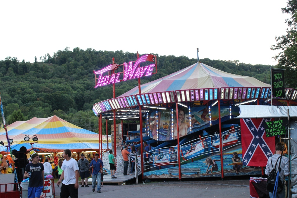 Confederate flag flies and sells at the fair in Walton, New York