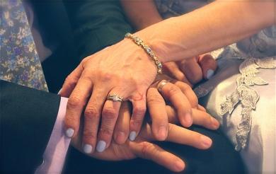 Wedded hands - tattooed symbols of love