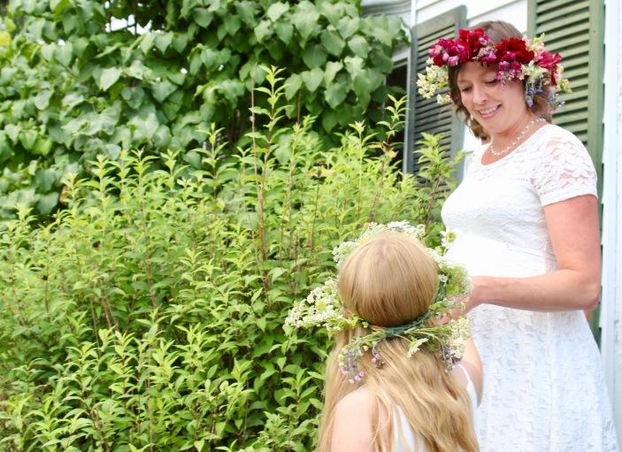Flowers in their hair...