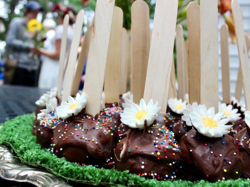 Farm inspired wedding cake pops!