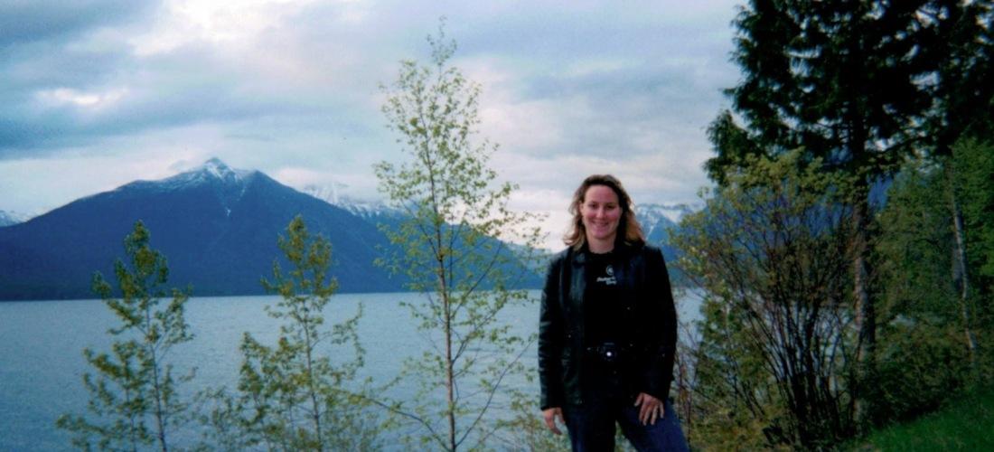 Rebecca Andre at Glacier Park Circa 2004