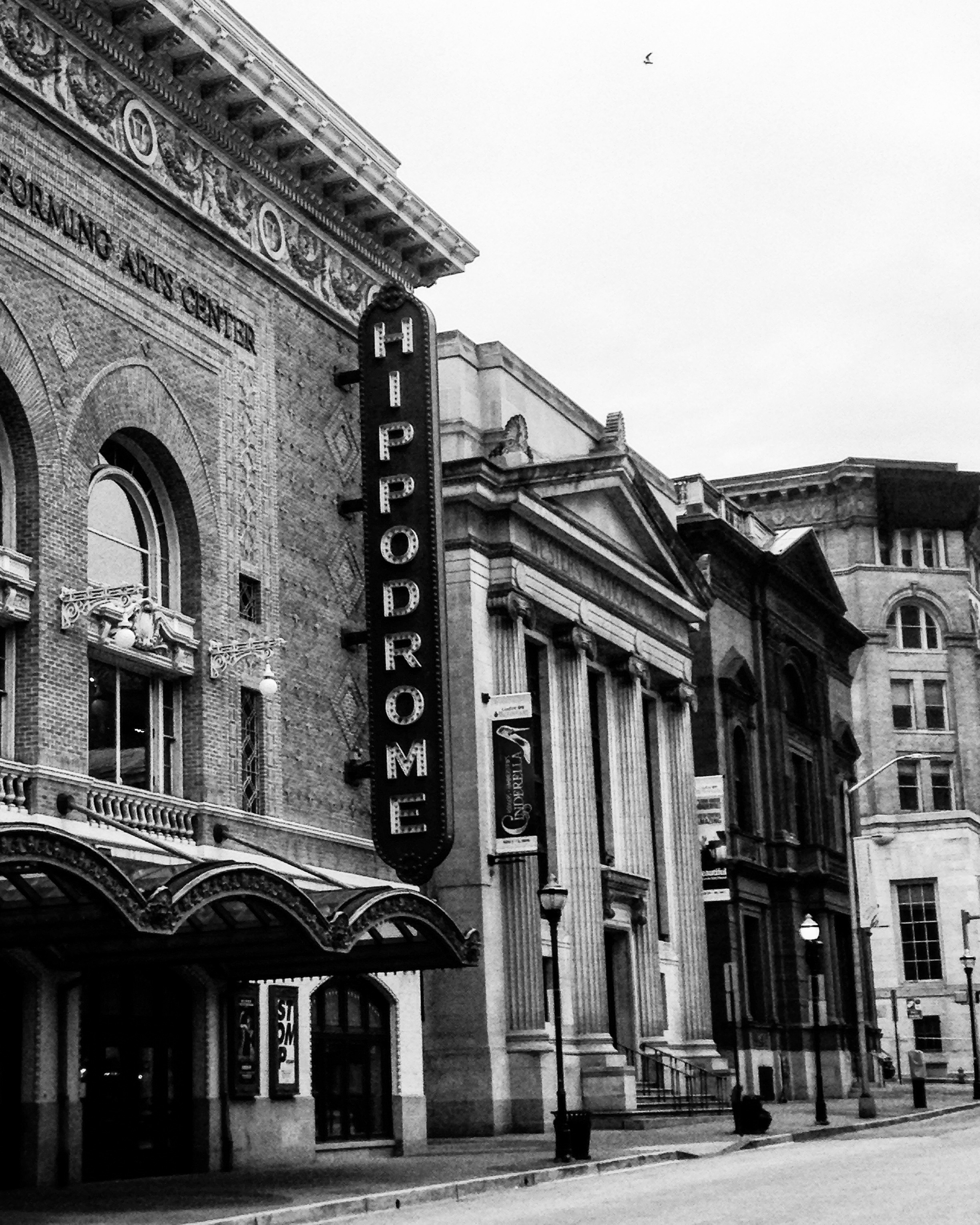 Hippodrome, Baltimore, B/W by Becca Andre