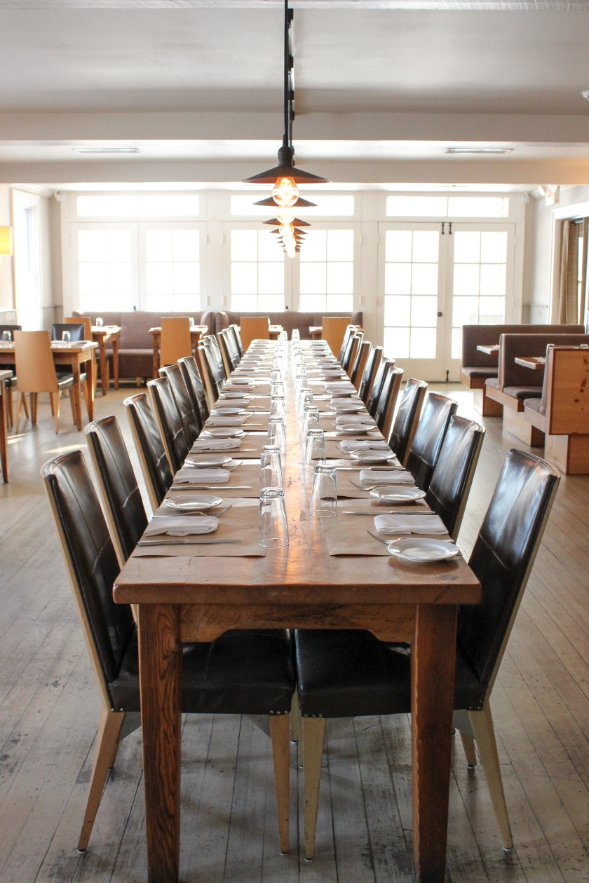 Family table at Cucina Woodstock. © Rebecca Andre of Mountain Girl Photography, NY. Use with permission only please.