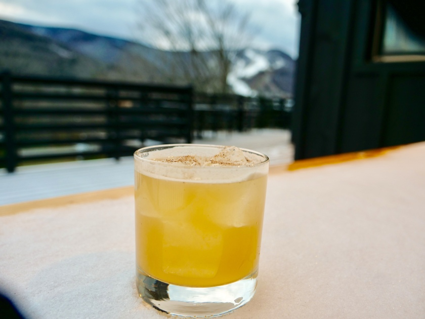 Scribbner's Prospect Restaurant Seasonal inspired cocktails include this nutmeg dusted lemon whiskey ©Rebecca Andre