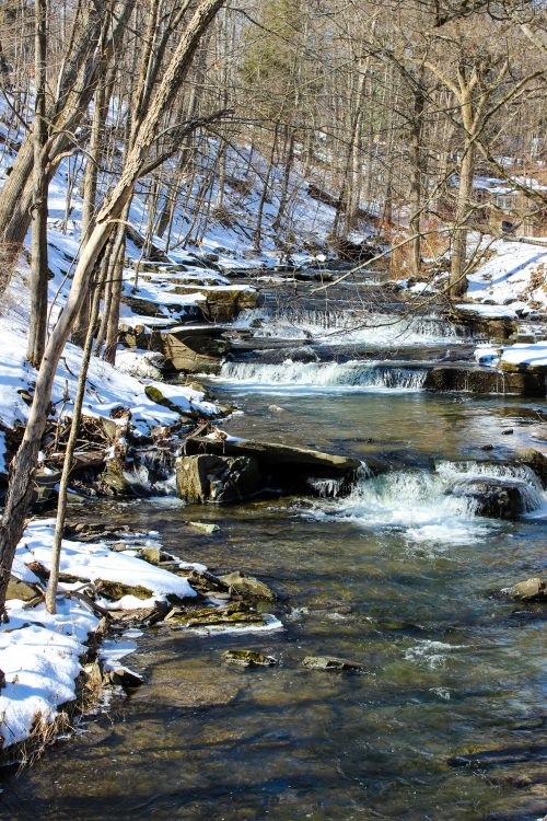 Wintertime on the Mill Stream. ©Rebecca Andre of Mountain Girl Photography, NY. Use by permission only please.