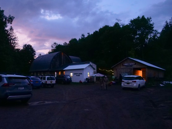 Beautiful night for a square dance at Dirty Girl Farm
