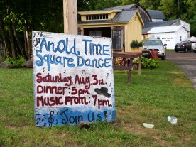Roadside square dance invite