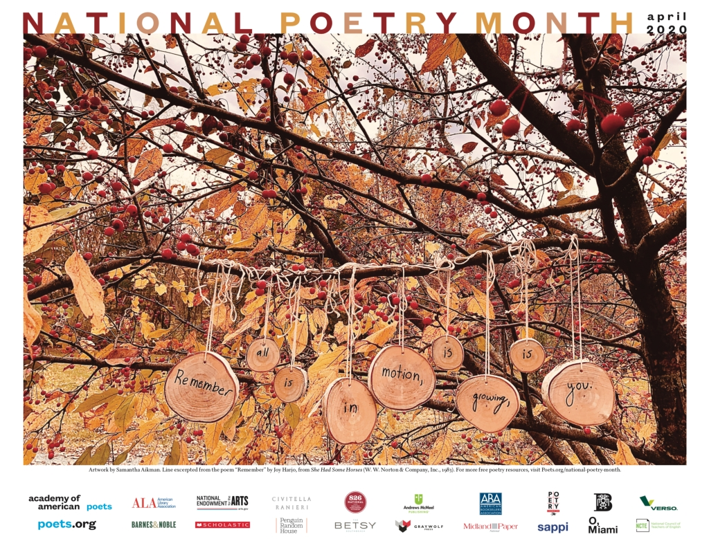 National Poetry Month 2020 poster